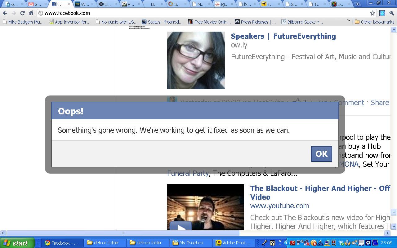 Facebook oops pics